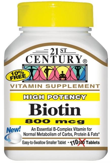Отзывы на витамин Биотин 21st Century